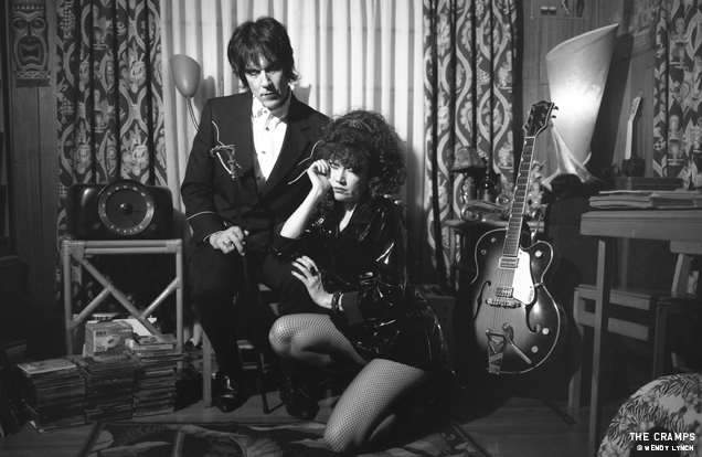 Lux Interior and Poison Ivy of The Cramps